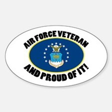 Proud Air Force Veteran Sticker (Oval)