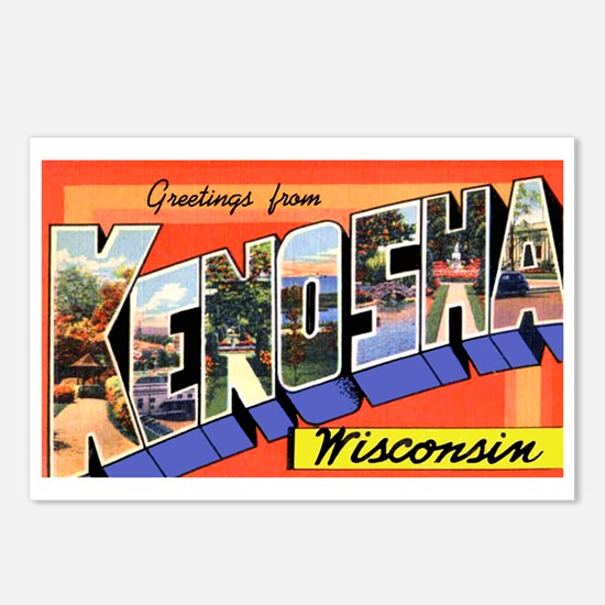 Kenosha Wisconsin Greetings Postcards (Package of