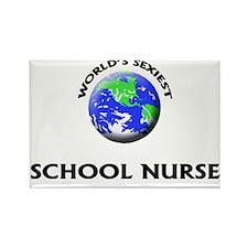 World's Sexiest School Nurse Rectangle Magnet