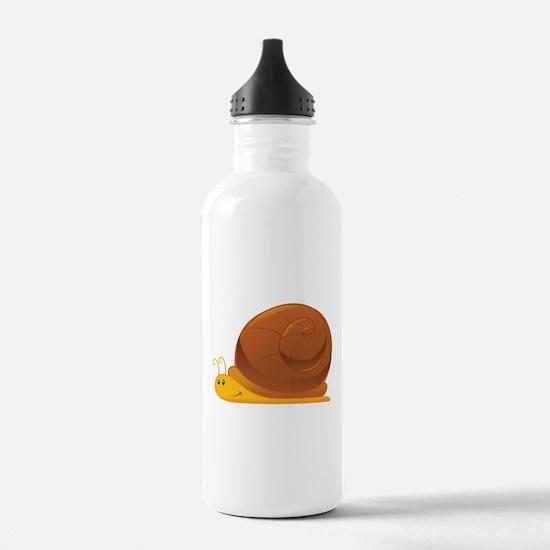 Orange Cartoon Snail Water Bottle