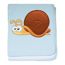 Tan Cartoon Snail baby blanket