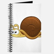 Tan Cartoon Snail Journal