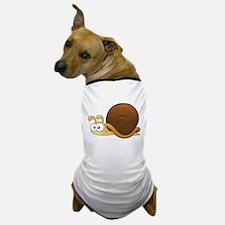 Tan Cartoon Snail Dog T-Shirt