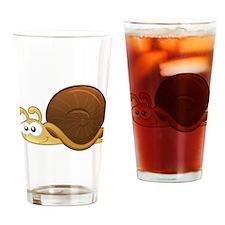 Tan Cartoon Snail Drinking Glass