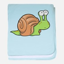 Spotted Snail baby blanket