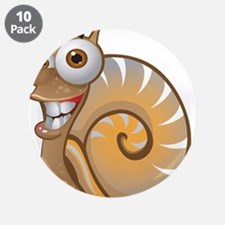"Happy Snail 3.5"" Button (10 pack)"