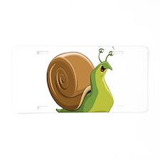 Snail Aluminum License Plate