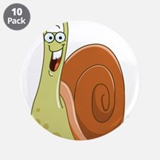 "Excited Snail 3.5"" Button (10 pack)"
