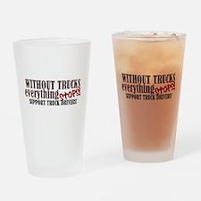 Trucker Support Drinking Glass