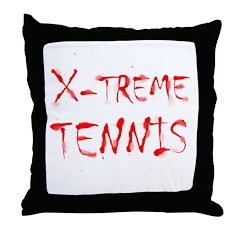 X-treme Tennis Throw Pillow