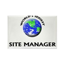 World's Sexiest Site Manager Rectangle Magnet