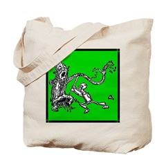 Attacked by the Fighting Tree Tote Bag
