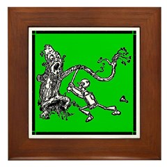 Attacked by the Fighting Tree Framed Tile