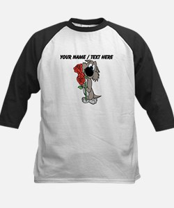 Personalized Cute Dog With Flowers Baseball Jersey