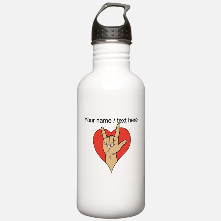 Personalized Rock And Love Water Bottle