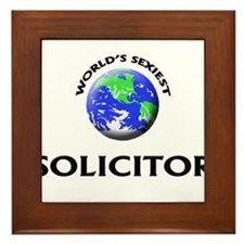 World's Sexiest Solicitor Framed Tile