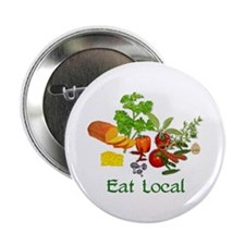 "Eat Local Grown Produce 2.25"" Button"