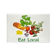 Eat Local Grown Produce Rectangle Magnet (10 pack)