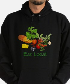Eat Local Grown Produce Hoodie (dark)