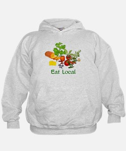 Eat Local Grown Produce Hoodie