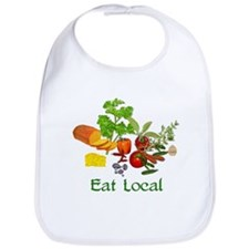 Eat Local Grown Produce Bib