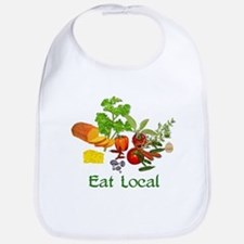 Eat Local Grown Produce Bib
