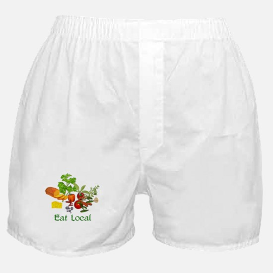 Eat Local Grown Produce Boxer Shorts