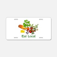 Eat Local Grown Produce Aluminum License Plate