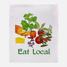 Eat Local Grown Produce Throw Blanket