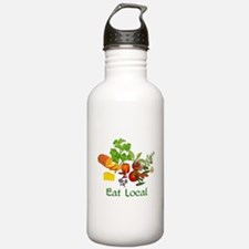 Eat Local Grown Produce Water Bottle