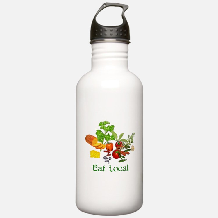 Eat Local Grown Produce Water Bottle