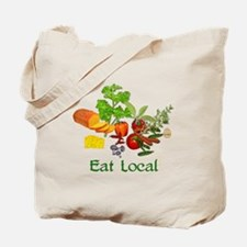 Eat Local Grown Produce Tote Bag