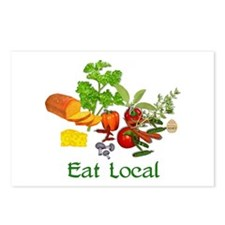 Eat Local Grown Produce Postcards (Package of 8)