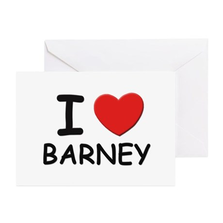 I love Barney Greeting Cards (Pk of 10)