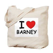 I love Barney Tote Bag