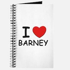 I love Barney Journal