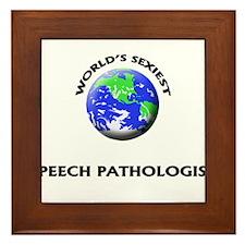 World's Sexiest Speech Pathologist Framed Tile