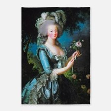 Marie Antoinette with Rose 5'x7'Area Rug