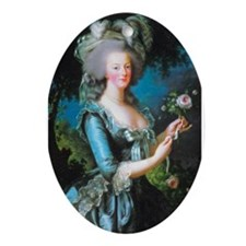 Marie Antoinette with Rose Ornament (Oval)