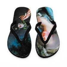 Marie Antoinette with Rose Flip Flops