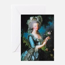 Marie Antoinette with Rose Greeting Card