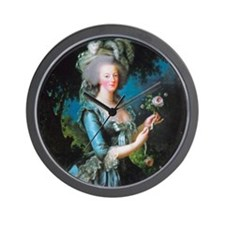 Marie Antoinette with Rose Wall Clock