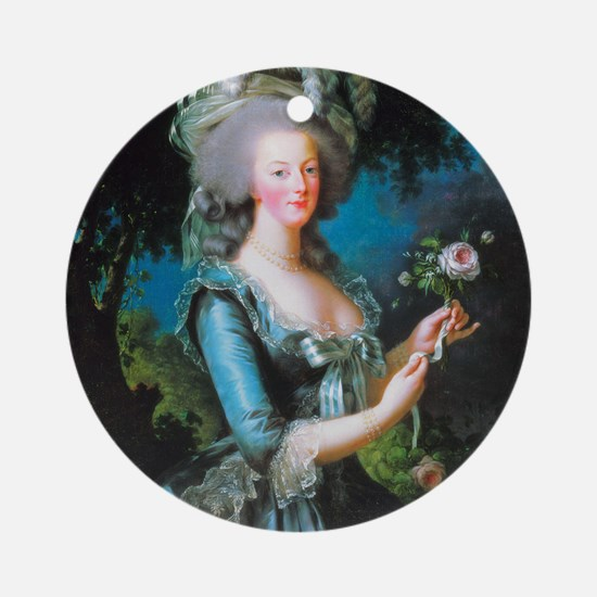 Marie Antoinette with Rose Ornament (Round)
