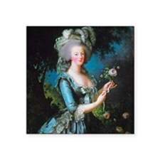 """Marie Antoinette with Rose Square Sticker 3"""" x 3"""""""
