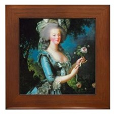 Marie Antoinette with Rose Framed Tile