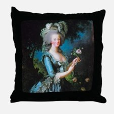 Marie Antoinette with Rose Throw Pillow