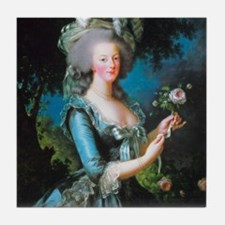 Marie Antoinette with Rose Tile Coaster
