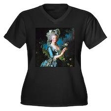 Marie Antoin Women's Plus Size V-Neck Dark T-Shirt