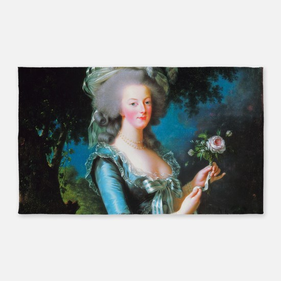 Marie Antoinette with Rose 3'x5' Area Rug