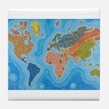 The Map of Health Tile Coaster